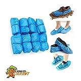 Copriscarpe usa e getta – 50 paia – blu, taglia unica, antiscivolo e impermeabile. Spessore 3 g, 100 pezzi.