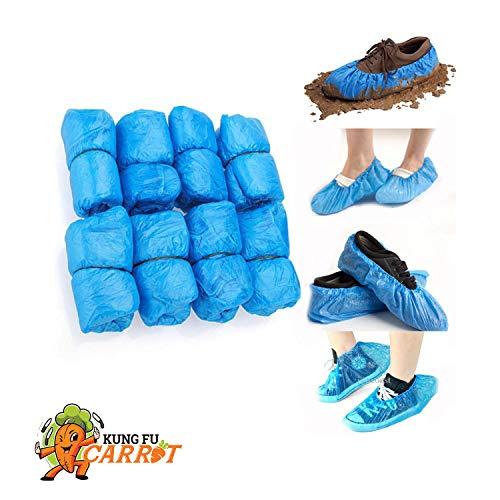 Copriscarpe monouso - 50 paia - blu, taglia unica, adatti a tutti, copriscarpe impermeabili e antiscivolo. spessore 3 g, 100 pezzi.
