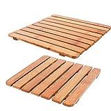 Bambus verdickte Isolierung Pad Quadratische Topfmatte Isolierung Topflappen Tischset Carbonized Kitchen Besteck Topf Anti-Verbrühende Schüssel Mat Pad 18cm 22cm