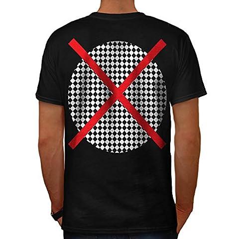 ovale Traverser Impression Modèle Drapeau Prospectus Men M T-shirt le dos | Wellcoda