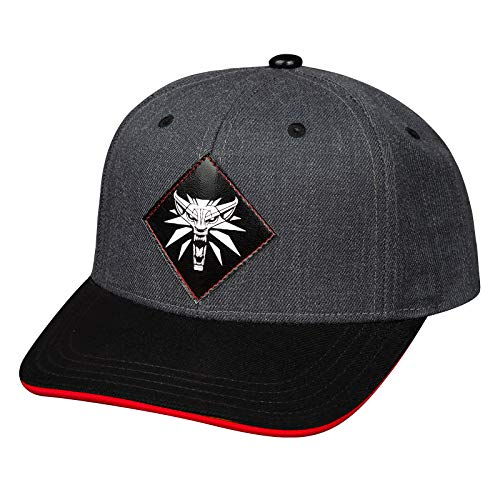 JINX Witcher Snapback Cap Monster Slays Wolf Medallón Gris Negro