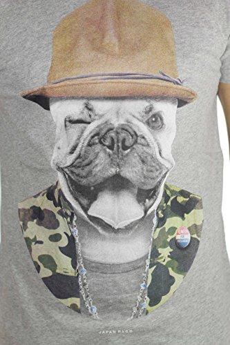 Japan Rags–Japan Rags–T-shirt Herren MC doggel Grau - Grau