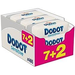 3 de Dodot Sensitive - Toallitas para bebe, 9 paquetes de 54 unidades