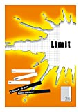 LIMIT Schulheft 10er Pack A4 Lineatur 26 - kariert mit Rand 16 Blatt orange