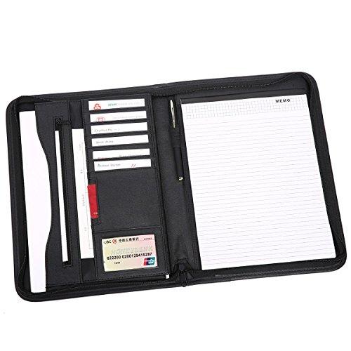 Leathario-Portfolio A4 en cuir PU, porte document, portfolio cuir pour bureau, agenda d'affaires en cuir, chemise de dossier en cuir, portfolio cuir pour directeu