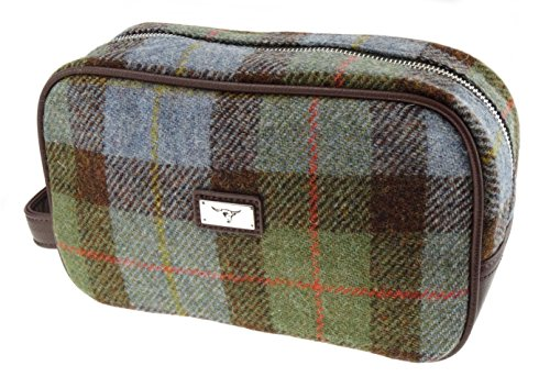 harris-tweed-gunn-clan-tartan-toiletry-wash-bag