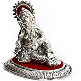 Aapno Rajasthan Metal Ganesh With Silver Finish For Diwali