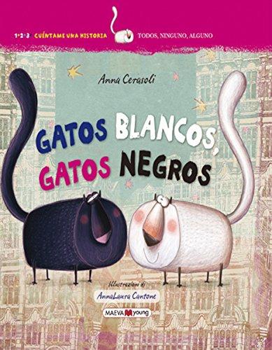 Portada del libro Gatos blancos, gatos negros (Maeva Young)