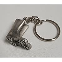 NWGifts Garden Wellies Wellington Boots Keyring Handcrafted From English Pewter Key Ring in gift pouch