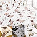 Pug Duvet Cover with Pillow Case Bedding Set Blanket Throw Pooch Puppy Dog Gift from Dreamscene Wardley