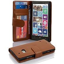 Cadorabo - Funda Nokia Lumia 930 / 929 Book Style de Cuero Sintético en Diseño Libro - Etui Case Cover Carcasa Caja Protección con Tarjetero en MARRÓN-COGNAC