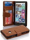 Cadorabo Hülle für Nokia Lumia 929/930 Hülle in Cognac braun Handyhülle mit 3 Kartenfächern Case Cover Schutzhülle Etui Tasche Book Klapp Style Cognac-Braun