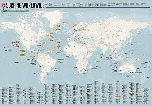 Surfing Worldwide - Map: The ultimate map showing you when and where to surf.