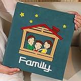 SESO UK- Creative Interstitial Fotoalbum, Jubiläum Hochzeit Baby Wachstum Memo Familienalben, für 600 Fotos mit Einer Größe von 6x4/10.2x15.2cm (4D) (Farbe : Grün)