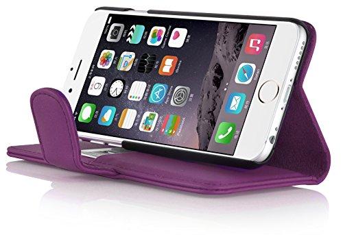 Housse iPhone 4 4s  Coque iPhone 4 4s | JAMMYLIZARD | Housse portefeuille Classique aspect cuir range cartes fermeture magnétique, Vert VIOLET