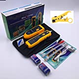 #5: Telephone Network Cable Wire Line Toner Tracer Tester Phone Rj11 Tracker Generator Lan Rj45 Trace Ethernet Networking & Stripping Tool Stripper Cutter Pliers Multifunctional Coaxial Coax Rotary Cat5 cat6`