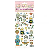 Porzellansticker, Porzellandekor, Roboter, klebt auf Porzellan, Fliesen, Glas, glatten Oberflächen
