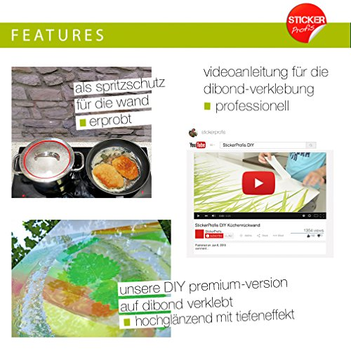 "Küchenrückwand selbstklebend Pro "" WIESEN GRAS "" 60 x 400cm DIY – Do It Yourself - 5"