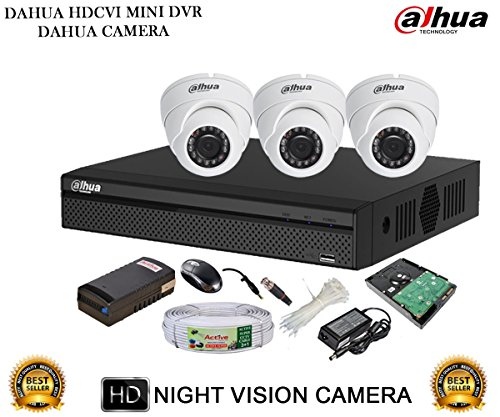 Dahua Hdcvi Dh-hcvr4104hs-s2 4ch Dvr + Dh-hac-hdw1000rp-0360b Dome Camera 3pcs + 1tb Hdd + Active Cable + Active Power Supply Full Combo