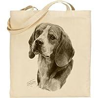 Mike Sibley Beagle cotone naturale borsa