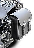 Buffalo Bag Satteltasche Seattle 17 Liter - für die linke Seite mit Stoßdämpferaufnahme - passend für Harley Davidso
