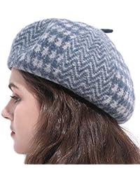 Cappello Femminile Autunno e Inverno in Lana Berretto Pied de Poule Nuovo  Elegante imbianchino Regalo Invernale aa89f57a4e5f