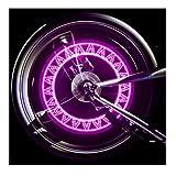Lmeno Rosa Fahrrad Speichenlicht Speichenreflektor Super Bright LED Fahrrad sprach Lichter Wasserdicht 15 Farbmuster Radfahren Rad Reifen Ventil Lichter Speiche Reifendraht Blitz Neonlicht Speichen Licht Lampe Blinker Beleuchtung Sicherheit Signal lights