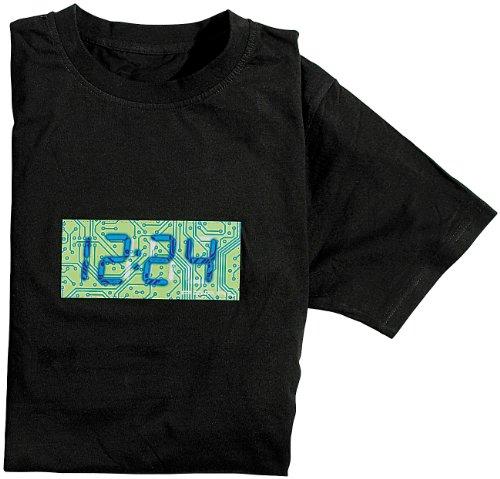 Preisvergleich Produktbild infactory T-Shirt mit leuchtender XL-Uhrzeit-Anzeige Größe M