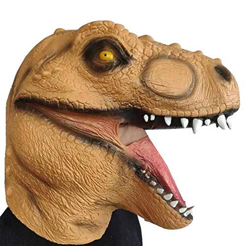 Themen Kostüm Rave - Gelbe Jura-Dinosauriermasken-Kopfbedeckung Perfekt Für Eine Spaßige Erinnerung,Halloween, Weihnachten, Ostern, Karneval, Kostüm-Partys, Themen-Partys Oder Einfach Den Gang in Einen Nachtclub.