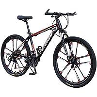 Kobay Vélo de montagne adulte , roues de 26 pouces, vélo à 21 vitesses, suspension intégrale, VTT, freins à double disque, vélo de montagne, vélo de piste de montagne, vélos tout-terrain pliants en acier à haute teneur en carbone
