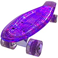 Bollinger GS-SB-X1V Penny Board con Luz, Unisex Adulto, Púrpura,