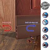ZCZUOX Burlete bajo Puerta, burlete Autoadhesivo de Goma de Silicona, Aislamiento acústico/a Prueba de Viento/Tira de Sellado a Prueba de Polvo 5 * 100CM (marrón)