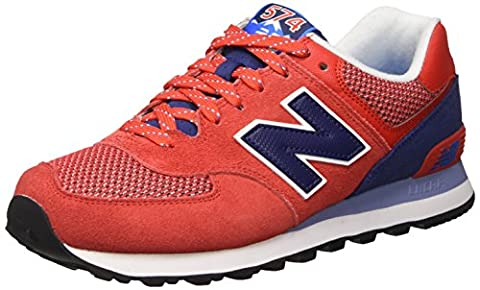 New Balance 574 Lifestyle Suede/Textile, Gymnastique homme - Rouge -