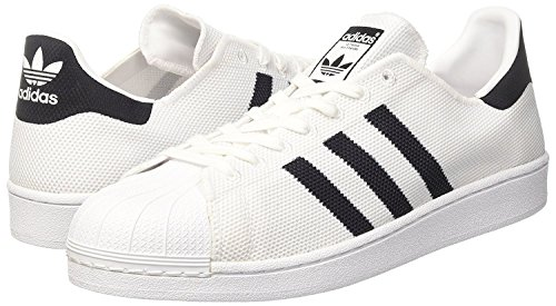 adidas Originals Superstar, Baskets Mixte Adulte Blanc (Ftwwhtcblackftwwht) 41 13 EU