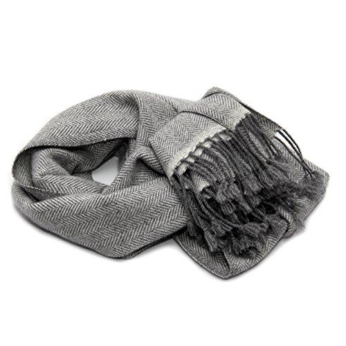 Mens 100% sciarpa di cachemire, filato 26/2 Composizione, Sciarpa a