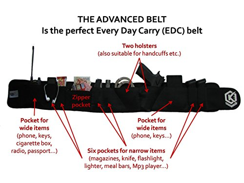 Spezielle entworfen EDC Bauchband Holster für noch Schneller Zeichnen die Guns-extrem bequem-Holster passt von voller Größe zu Kompakte Guns ohne Zubehör -
