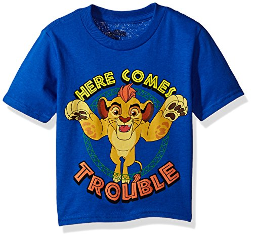 Disney Toddler Boys' Lion Guard Here Comes Trouble Short Sleeve T-Shirt, Royal, 5T
