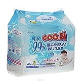 GOO.N Feuchttücher Nachfüllpack 3x70 Tücher Premium Qualität Made in Japan