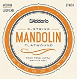 D'Addario EFW74 11-36 - Muta di corde Flatwound medie per mandolino, colore: bronzo fosforoso