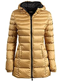 Abbigliamento Oro Giacche Cappotti Donna Amazon it E PYwFwq1