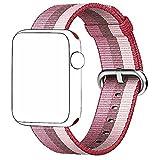 magiyard Straps da polso banda di rilascio di Sport tessuti di nylon per Apple Watch Series 3/2/138mm, C