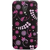 Motorola Moto G2 Hülle Premium Case Schutz Cover Blümchen Pink Pattern