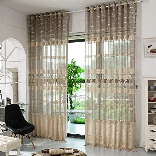 Finestra modern due pannelli trattamento a piega doppia a piega singola due pannelli trattamento finestra modern, jacquard a quadri,300 * 270/2