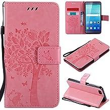 ebd295d5ae0 Ooboom® Funda para Huawei ShotX Flip Wallet Case Cover Carcasa Piel PU  Billetera Soporte con