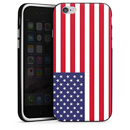Apple iPhone 5s Housse Étui Protection Coque Amérique États-Unis Drapeau Ballon de football Housse en silicone noir / blanc
