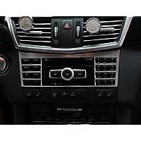 Panel de interruptor de consola central de aleación de aluminio para el interior del coche