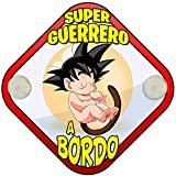 Placa bebé a bordo para fans de Goku peque Super Guerrero a bordo