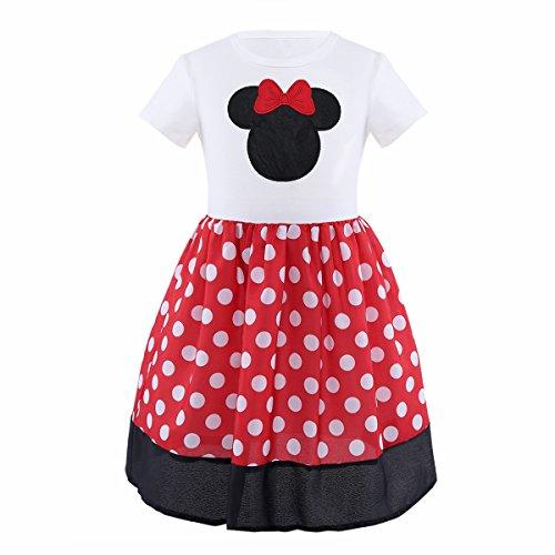 iiniim Mädchen Kleid Prinzessin Kleid Polka Dots Kleid -