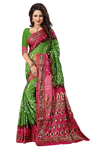 Vivera Women's bandhni Saree with Blouse piece(VRBADHANI2_3x20ii)  available at amazon for Rs.399