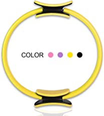 Flyngo Yoga Pilates Fitness Ring Multi-Color Pilates Circle Fitness Magic Circle for Fitness Training, Full-Body Workout, Barre - Toning, Sculpting, Strength, Flexibility